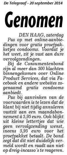Gratis condooms Telegraaf